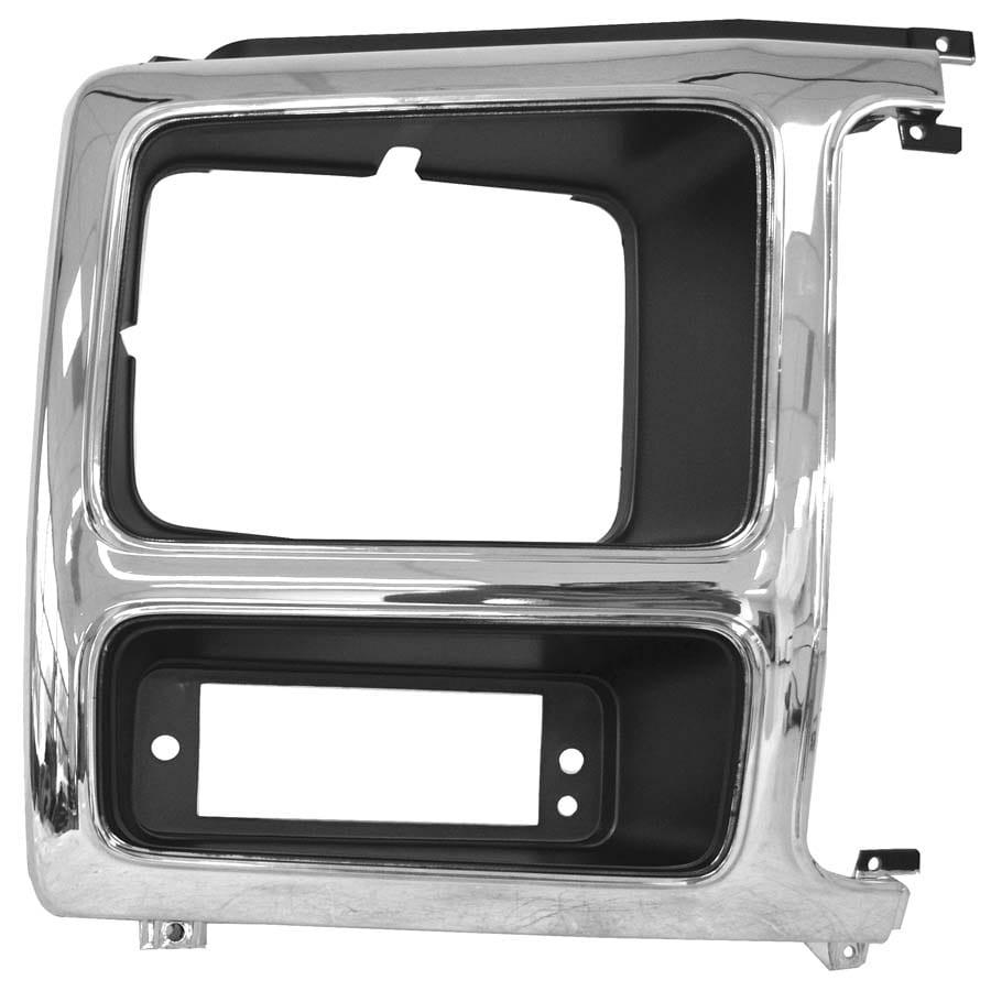 1982-1986 Ford Pickup Headlamp Door Passenger Side Chrome/Gray