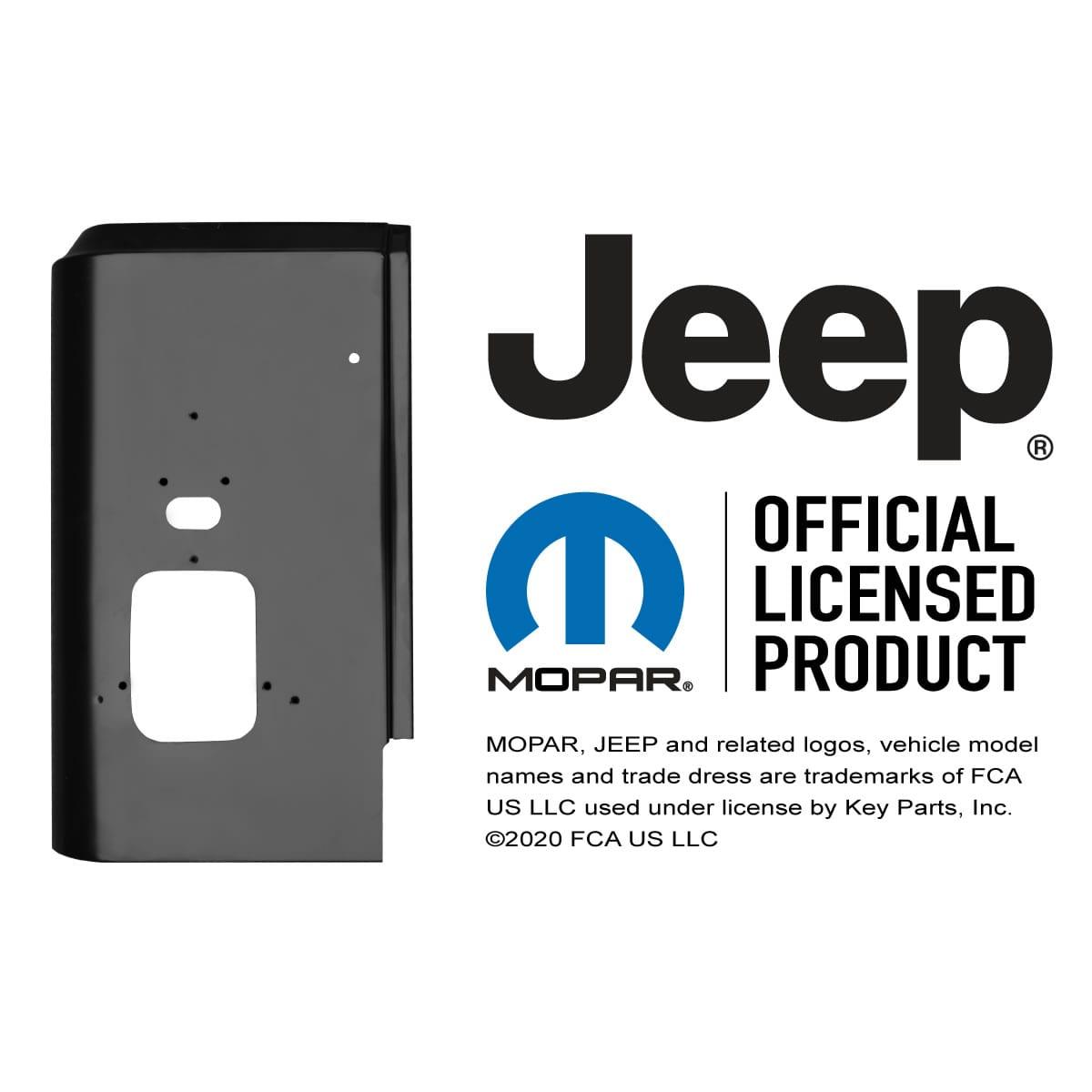 1987 1995 Jeep Wrangler Rear Corner Panel Driver Side