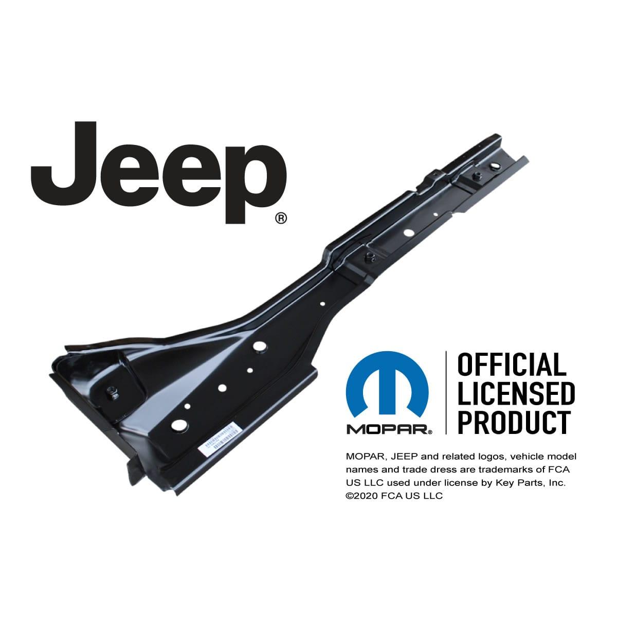 Key Parts 0485-317 Torque Box 1997-2006 Jeep Wrangler TJ Driver Side
