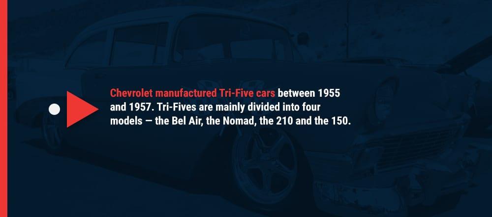 Tri-Five Chevy models
