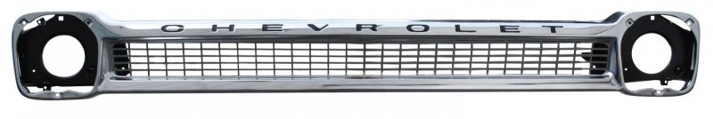 Chevrolet Pickup Chrome Grille Steel w Black Lettering Lamp Bucket Grille Brace image .jpeg