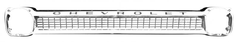 Chevrolet Pickup Chrome Grille Steel w Black Lettering image .jpeg
