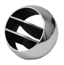 GM Pickup Dash Side Air Vent Ball Universal Chrome w Black Details image .jpeg