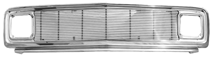 GM Pickup Chromed Steel Grill Assembly w MIL Billet Insert image .jpeg