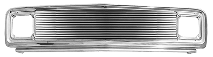 GM Pickup Painted Steel Grill Assembly w MIL Chrome Billet Insert image .jpeg