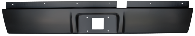 Dodge Ram Fleetside Pickup Rear Roll Pan w License Plate image .png