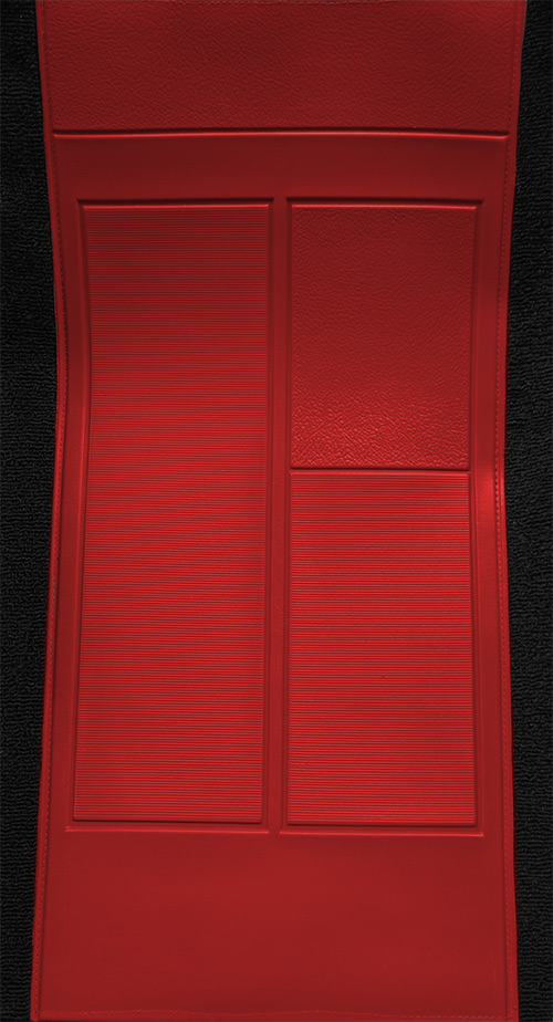 1970 Ford Mustang Mach I with 2 Red Inserts Flooring-closeup