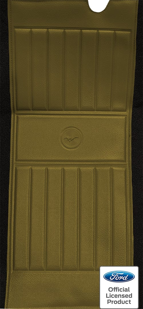 1971-1973 Ford Mustang Mach I with 2 Ivy Gold Running Pony Inserts Flooring insert
