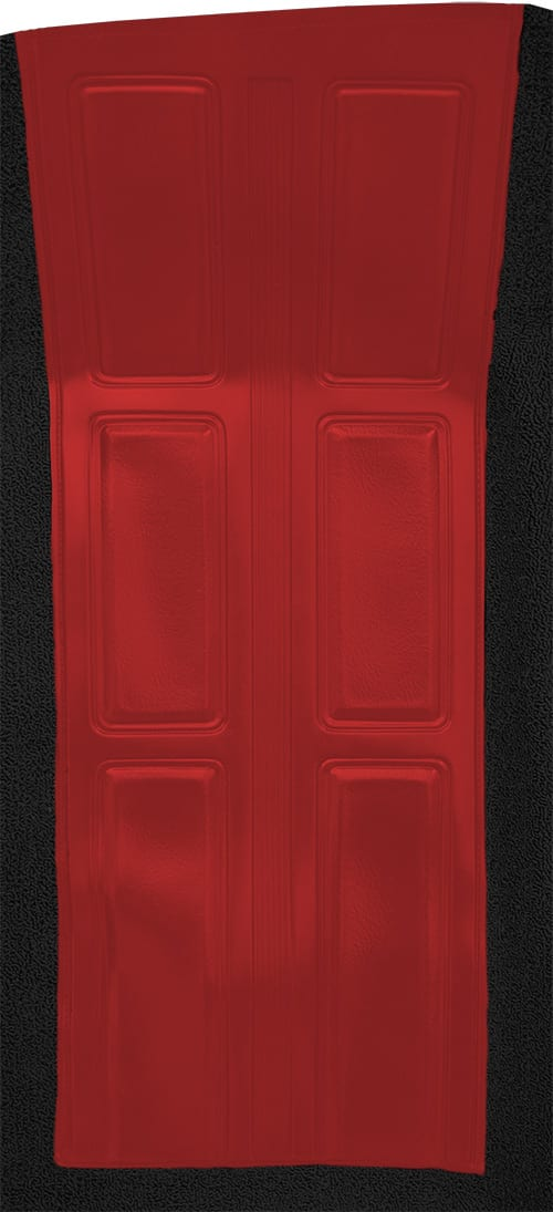 1972-1973 Mercury Montego GT with 2 Red Inserts Flooring insert