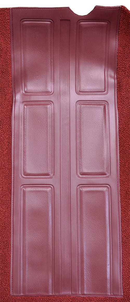 1972 Ford Torino GT Auto with 2 Maroon Inserts Flooring heel pad