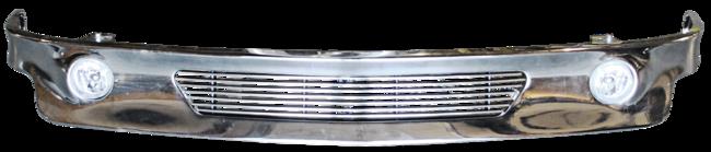'99-'02 CHEVY SILVERADO CUSTOM FRONT BUMPER VALENCE, CHROME