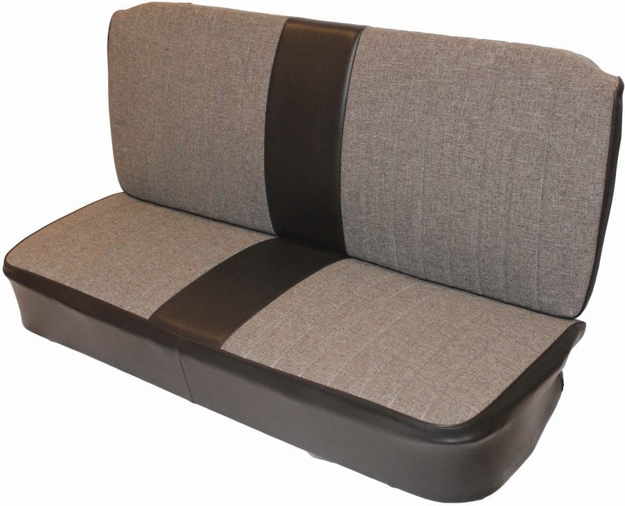 Designer seat with center bolster on angle