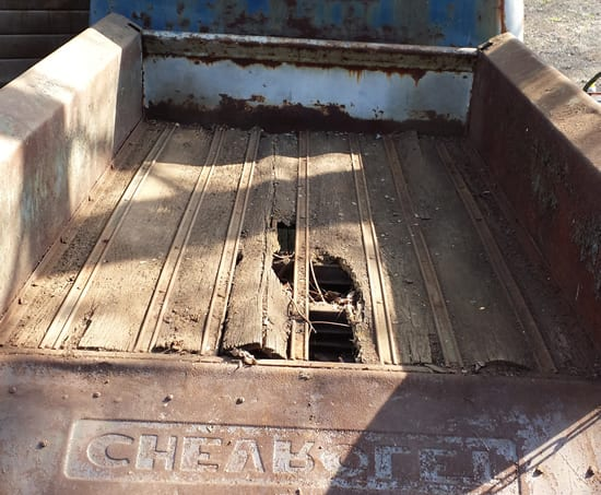 1953 chevy truck bed - before