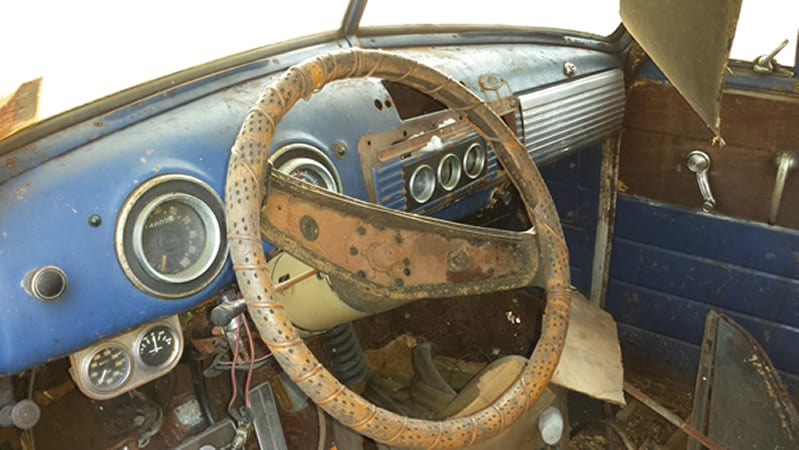 1953 chevy truck dash - before