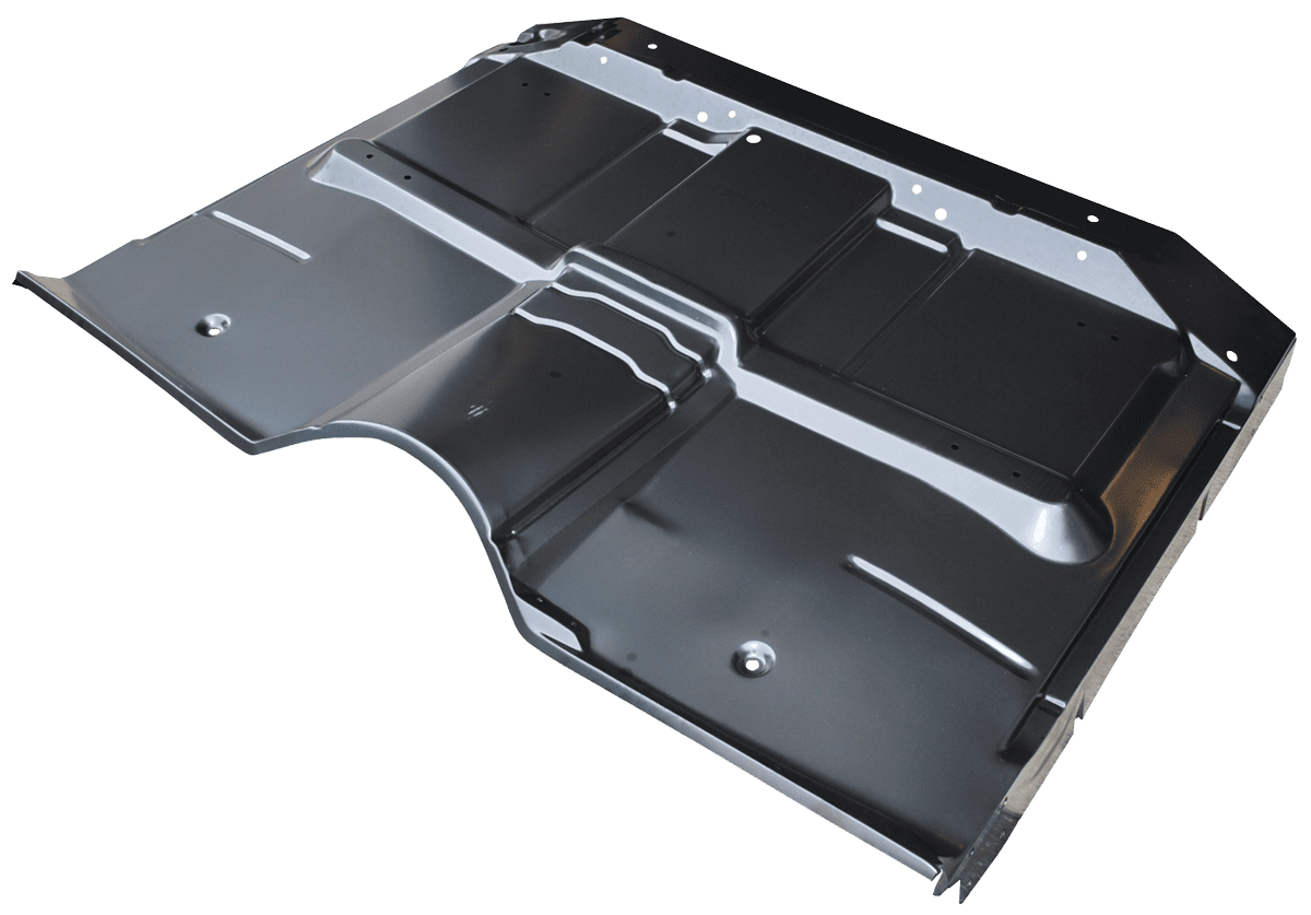 Chevrolet and GMC pickup cab floor skin without braces and supports.png