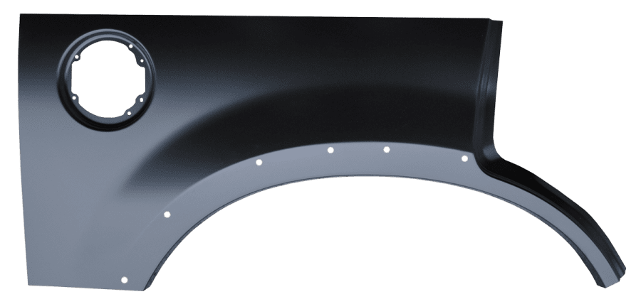 2002-2005 Explorer rear wheel arch with molding holes passengers side