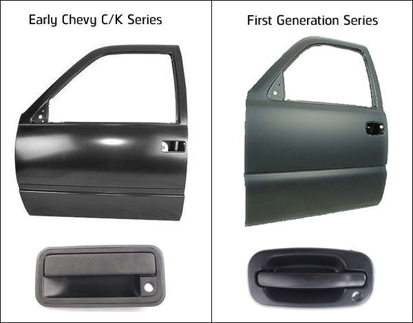 Chevy early series door and handle identification