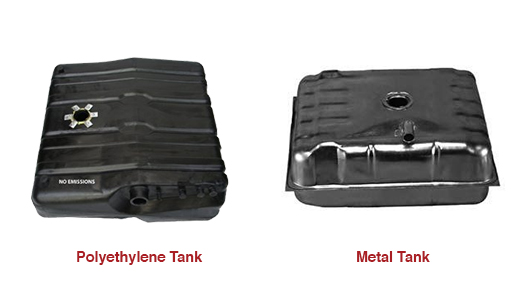 poly vs metal fuel tank