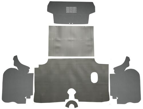 1960 Chevrolet Impala Trunk Mat Kit with Boards