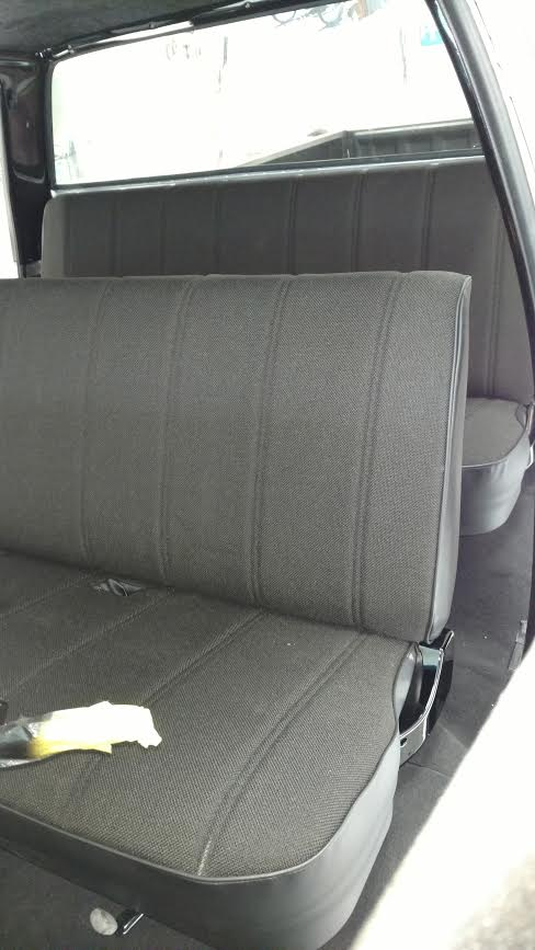 Seat cover channel tweed 3
