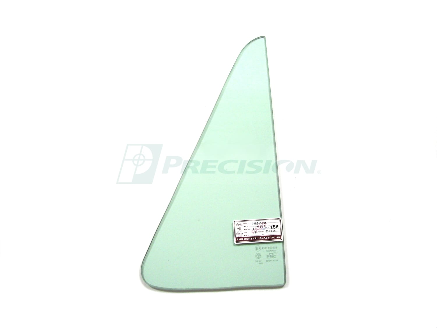 1964-1966 GM Pickup Vent Glass- Green