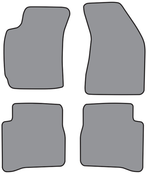 1996-2000 Hyundai Elantra Floor Mat 4pc Cutpile