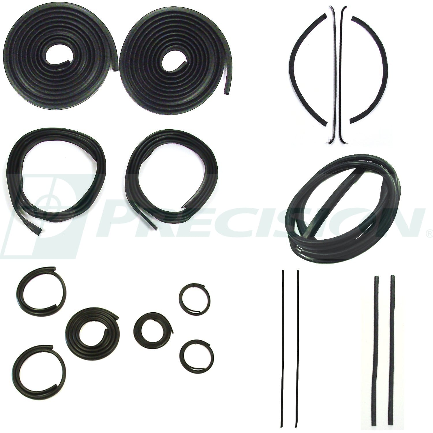 1947-1950 GM Pickup Weatherstrip Complete Kit w/o Windshield Trim Groove