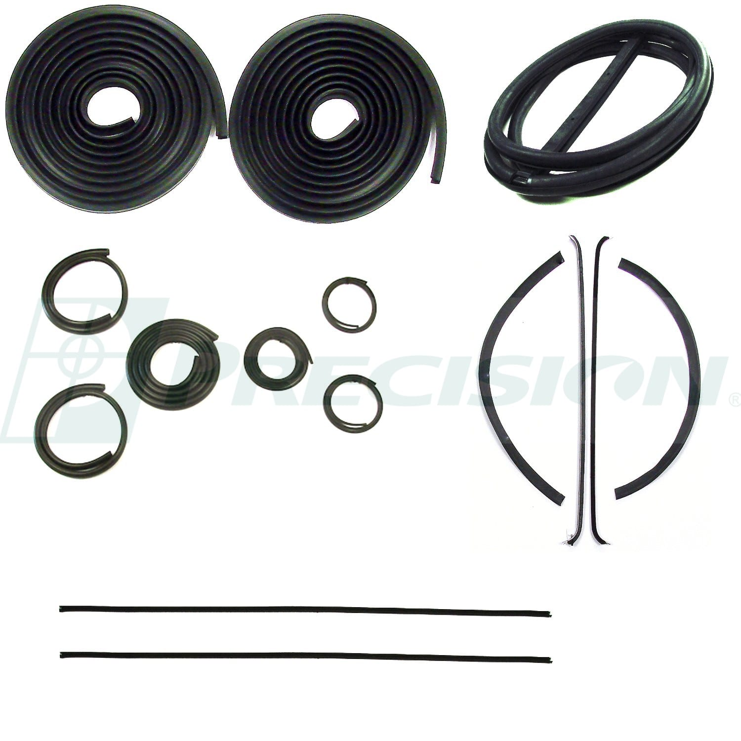 1947-1950 GM Pickup Weatherstrip Kit with Windshield Trim Groove