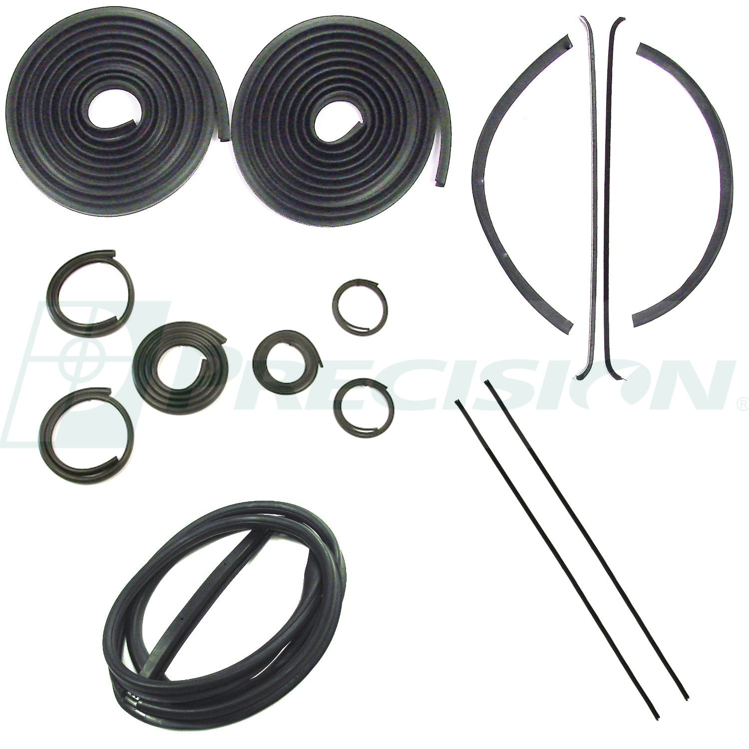 1947-1950 GM Pickup Weatherstrip Kit w/o Windshield Trim Groove