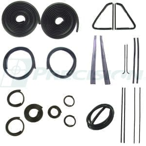 1951-1953 GM Pickup Weatherstrip Complete Kit w/o Windshield Trim Groove