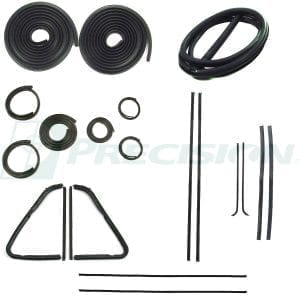 1951-1953 GM Pickup Weatherstrip Kit with Windshield Trim Groove