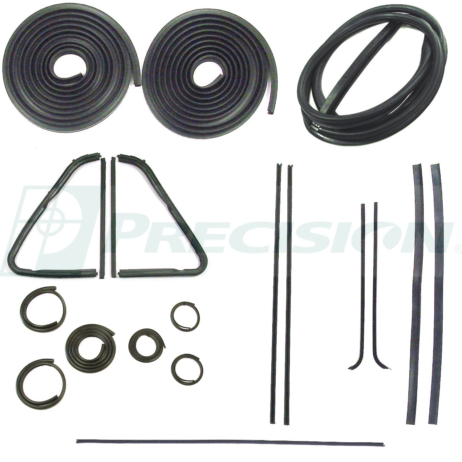 1951-1953 GM Pickup Weatherstrip Kit w/o Windshield Trim Groove