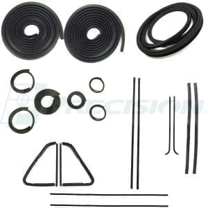 1954-1955 GM Pickup Weatherstrip Kit with Windshield Trim Groove