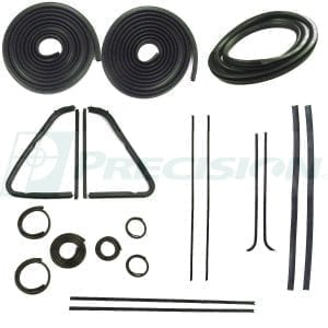 1954-1955 GM Pickup Weatherstrip Kit w/o Windshield Trim Groove