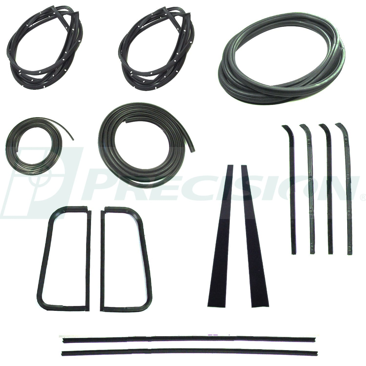 1955-1959 GM Pickup Weatherstrip Kit with Windshield Trim Groove