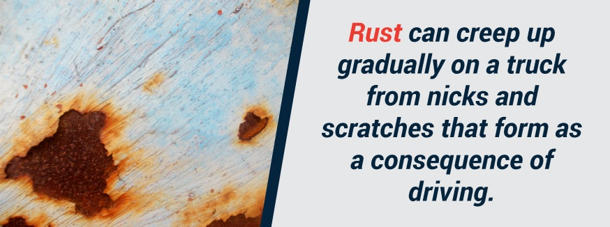 rust forms and spreads