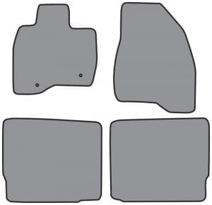 2015-2016 Ford Explorer Floor Mat 4pc Cutpile