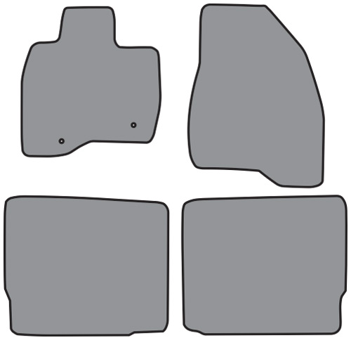 2015-2016 Ford Explorer Floor Mat 4pc Cutpile