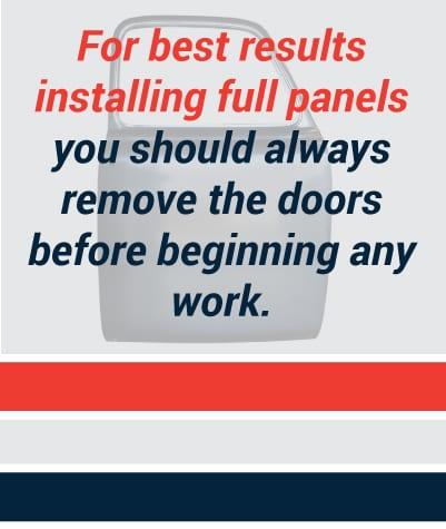 Remove the doors