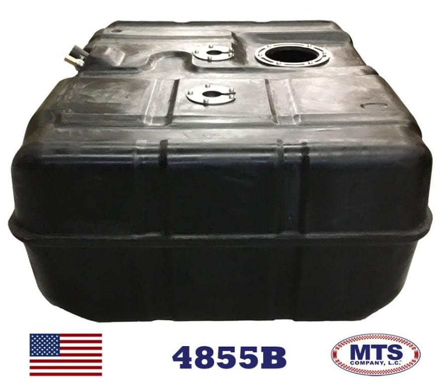2011-2015 Ford E-Series Super Duty Cut-a-Way Van 55 gallon diesel only fuel tank side view