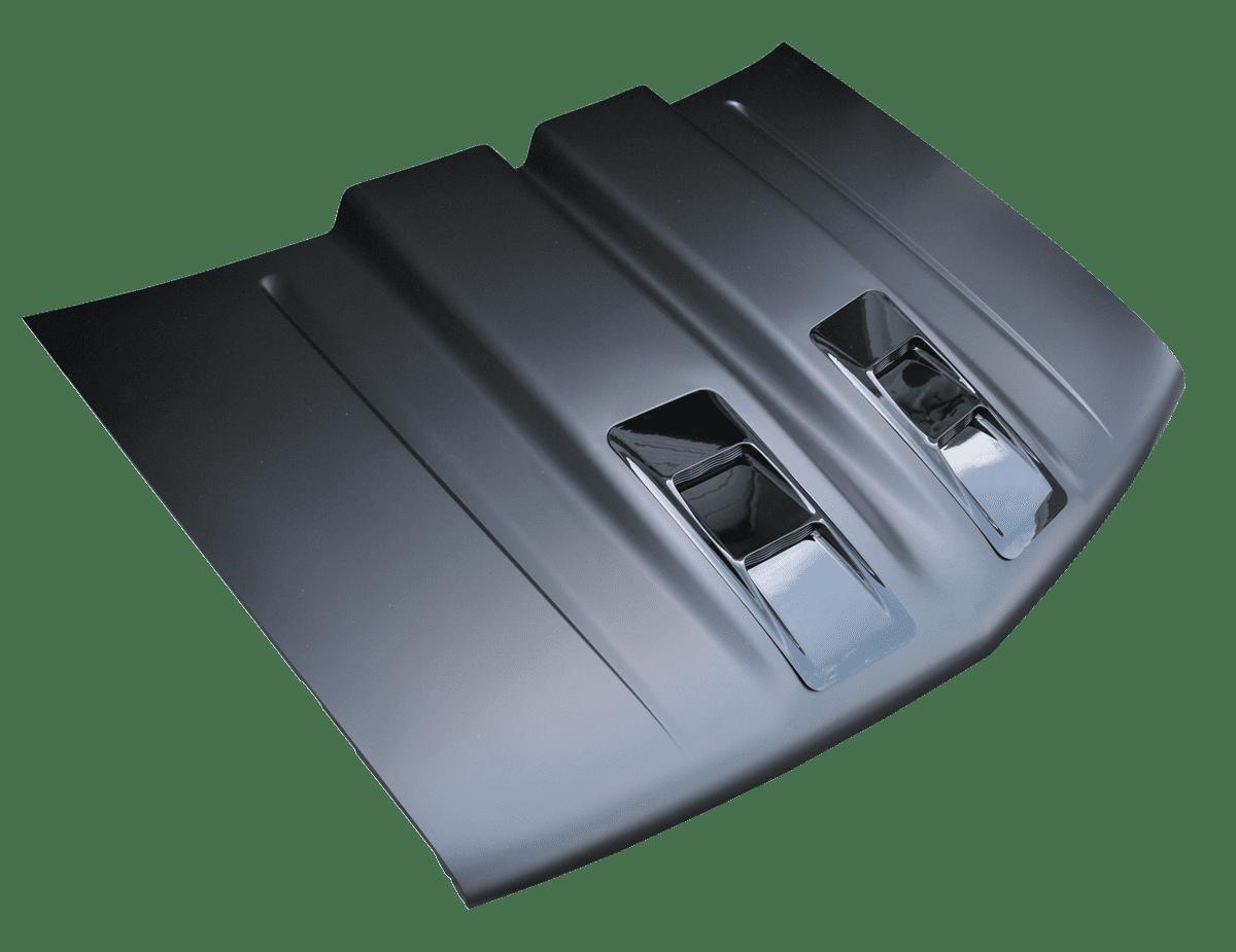 """Cowl Induction Hood Air Pan : Gm truck ″ """"dual cowl ram air style"""