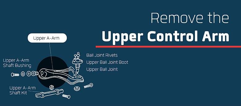 How to remove F150 upper control arm diagram
