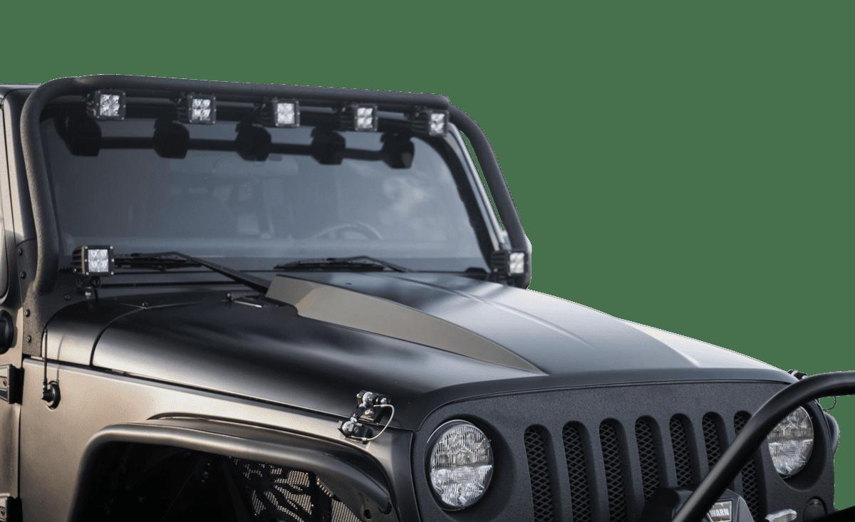 Steel Cowl Hoods ~ Jeep jk wrangler cowl hood