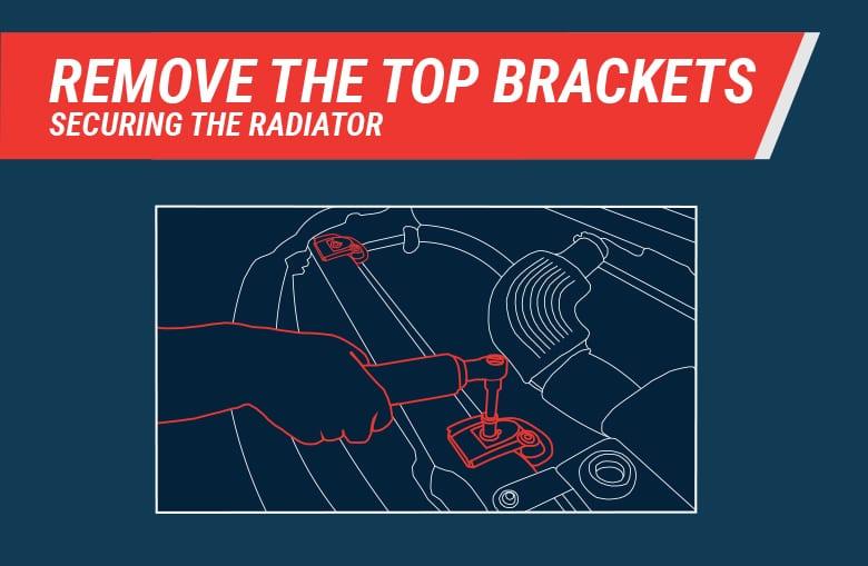 Remove F150 radiator brackets