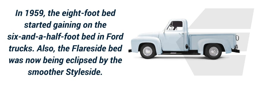 1959 changes to Ford truck bed