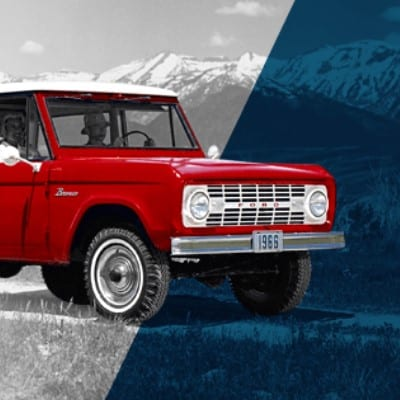 Red Ford Bronco