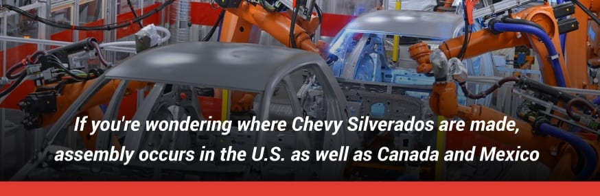 Chevy made in USA, Canada and Mexico