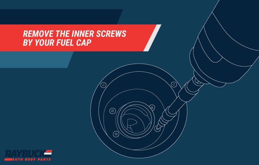 Remove the inner screws by fuel cap