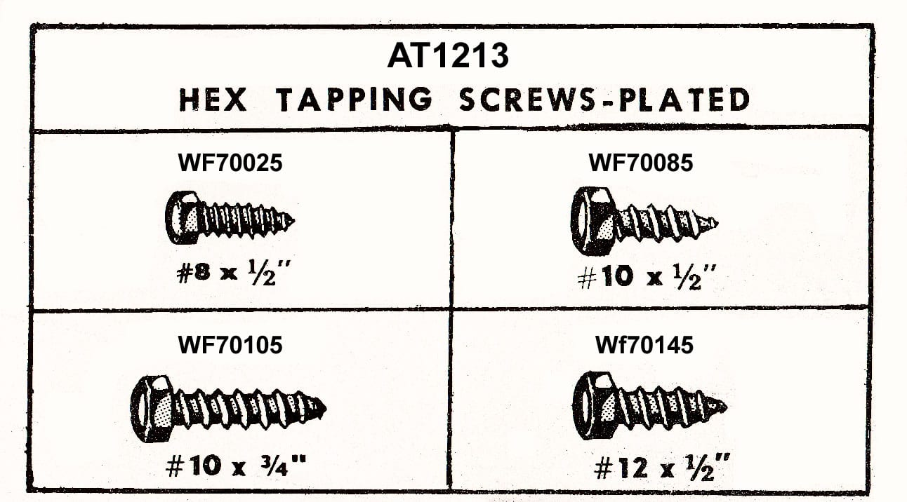 Assortment Tray Zinc Plated Hex Head Tap Screws