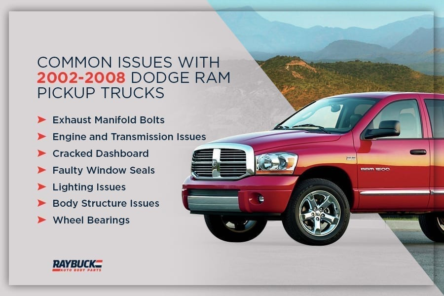 Common issues with 2002-2008 Dodge trucks